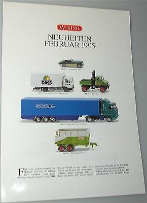 Neuheiten Februar 1995 WIKING Neuheitenblatt å *