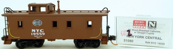 Micro Trains Line 51080 New York Central 19559 34' CABOOSE 1:160 OVP #K052 å