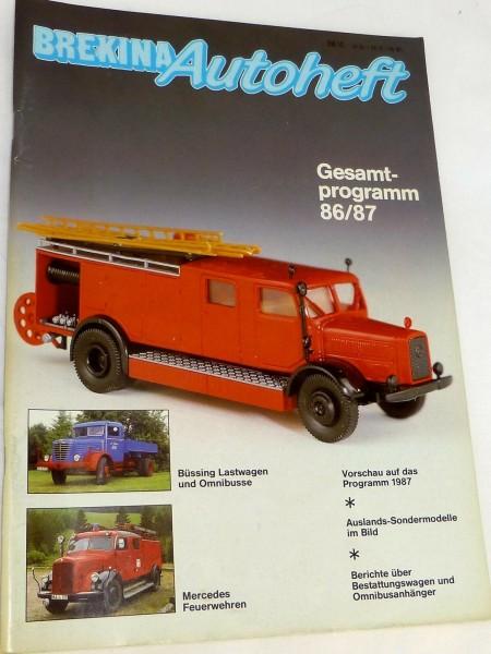 BREKINA Autoheft Gesamtprogramm 86/87 # å