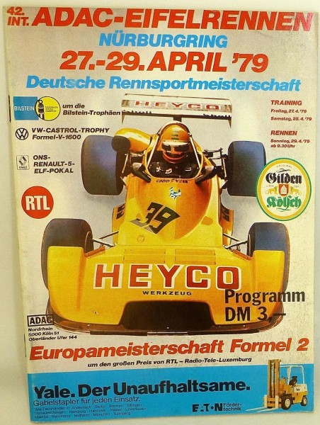 27.-29. April 79 ADAC 42. Eifelrennen Nürburgring PROGRAMMHEFT å X07 *