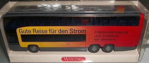 Siemens Gute Reise Strom BUS O404 Werbemodell WIKING 1:87 å