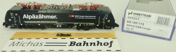BR 189 115 MRCE SBB Cargo EpVI Hobbytrain H2923S SOUND 1:160 HS3 µ *