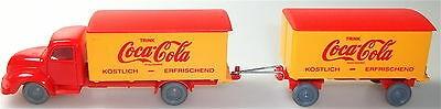 Coca Cola Magirus Rundhauber Hängerzug rot orange IMU H0 1:87 #38# å