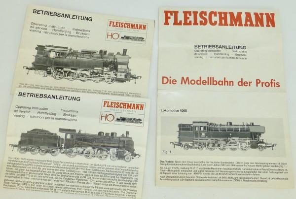 3x FLEISCHMANN Anleitung Dampflok H0 1:87 å
