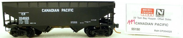 Micro Trains Line 55150 Canadian Pacific 354025 33' Twin Hopper OVP 1:160 #K111 å
