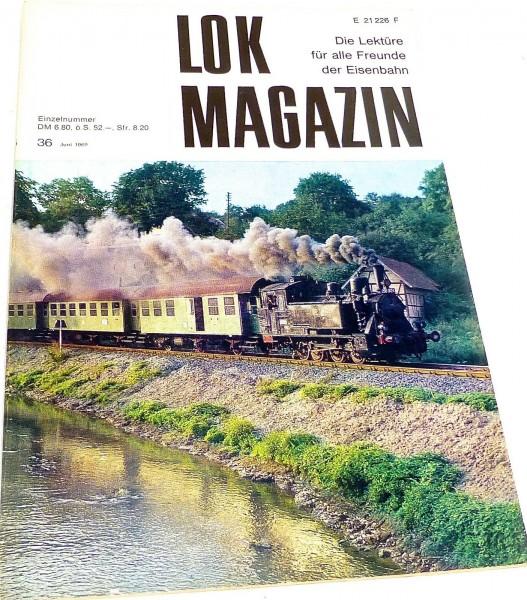 Lok Magazin Nr.36 Juni 1969 - Die Lektüre für alle Freunde der Eisenbahn # å