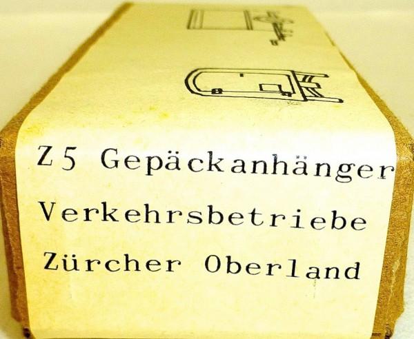 Z5 Gepäckanhänger Verkehrsb Zürcher Oberland Bausatz Weißmetall H0 1:87 OVP å *