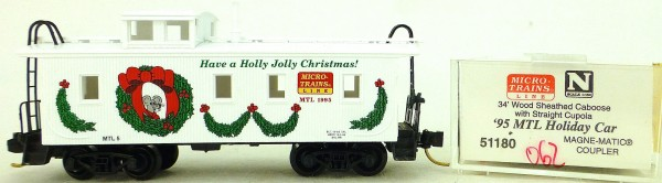 Micro Trains Line 51180 '95 MTL Holiday Car 34' CABOOSE OVP 1:160 #K062 å