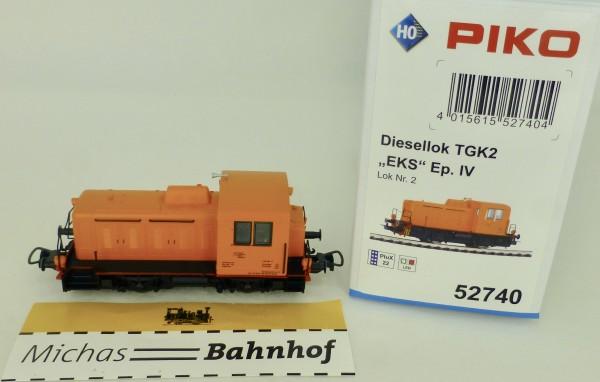 TGK2 EKS Diesellok Nr2 EpIV DSS PluX22 PIKO 52740 H0 1:87 OVP HV2 µ