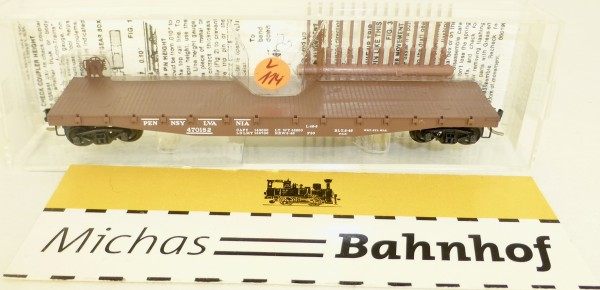 MICRO TRAINS 45140 Pennsylvania 470182 50' Flatcar Fishbelly Side N 1:160 #114L å