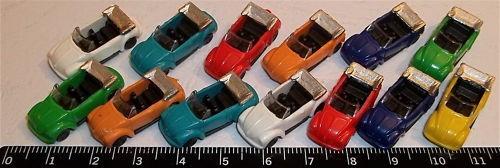 10 Stück VW Käfer Cabriolet Spur N 1:160 å *