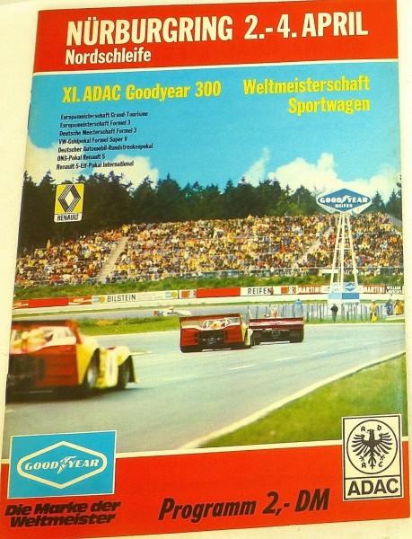 2.-4. APRIL XI.ADAC Goodyear 300 WM Sportwagen Nürburgring Programmheft å III10*