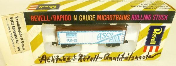 Asco Refrigerator Car Qual.Muster Revell rapido microtrains N-2528 OVP HT5 å *