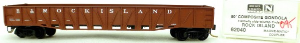 Micro Trains Line 62040 Rock Island 1199 50' Gondola Drop Ends 1:160 OVP #i095 å