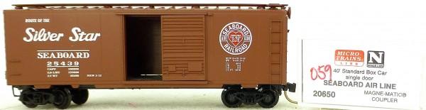 Micro Trains Line 20650 Seaboard Air Line 40' Standard Boxcar 1:160 OVP #H059 å