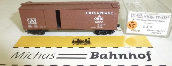 MICRO TRAINS 43070 C & O 12134 40' Sheathed Wood Boxcar 1 1/2 N 1:160 #55L å