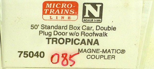 Micro Trains Line 75040 Tropicana USLX 13085 50´ Box Car 1:160 OVP #E å*