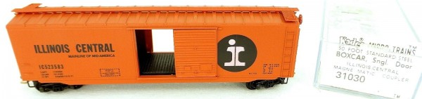 50´ Standard Boxcar ILLINOIS CENTRAL 523583 Micro Trains Line 31030 N 1:160 C å*