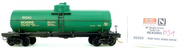 Micro Trains Line 65350 Reading 90985 39' Single Dome Tank Car 1:160 OVP #i031 å