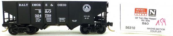 Micro Trains Line 56310 Baltimore Ohio 324759 33' Twin Bay Hopper 1:160 OVP #i159å