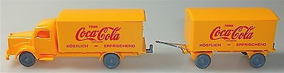 Coca Cola Mercedes 5000 Hängerzug orange IMU H0 1:87 #56# å