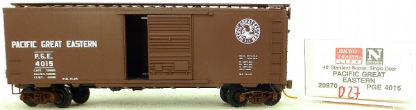 Micro Trains Line 20970 P.G.E. 4015 40' Standard Boxcar 1:160 OVP #H027 å