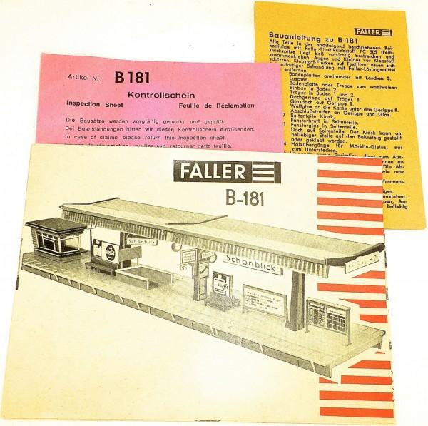 Anleitung Faller Häuser B181 å