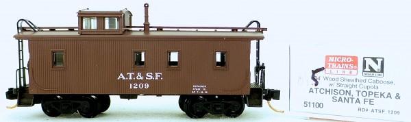 Micro Trains Line 51100 A.T.&S.F. 1209 34' CABOOSE 1:160 OVP #K045 å