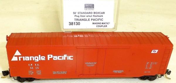 Triangle Pacific 50' Boxcar Plug Door Micro Trains Line 38130 N 1:160 OVP å *