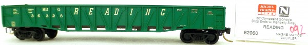 Micro Trains Line 62060 Reading 36328 50' Gondola Drop Ends 1:160 OVP #i092 å
