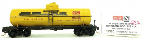 Micro Trains Line 65380 5th Anniversary 39' Single Dome Tank Car 1:160 OVP #i027 å