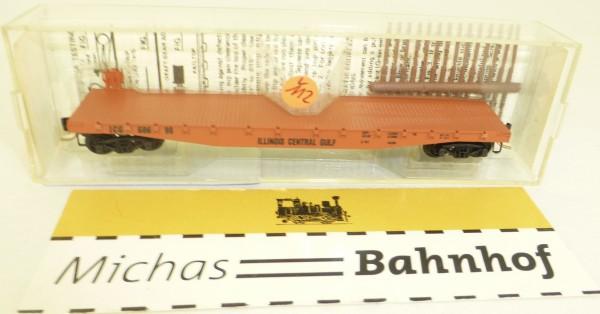 MICRO TRAINS 45010 Ill Central Gulf 60698 50' Flatcar Fishbelly Side N 1:160 #112L å