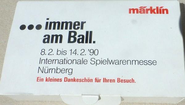 1990 Spielwarenmesse Containerwagen immer am Ball Märklin Spur Z 1:220 OVP å *
