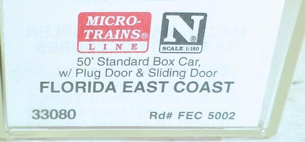 Micro-Trains Line 33080 Florida East Coast 50' Standard Box Car N 1:160 A å *