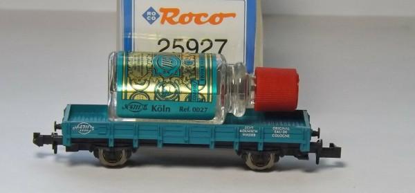Niederbordwagen 2achsig beladen mit Kölnisch Wasser Roco 25927 N 1:160 Neu µ *