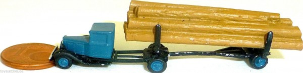 LKW Holztransporter ca 1930 Metall Kleinserie å *
