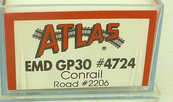 ATLAS 4724 KATO EMD GP30 Conrail 2206 Diesellok N 1:160 OVP ∑ å *