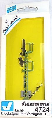 Licht Blocksignal m Vorsignal Multiplex Technologie Viessmann 4724 NEU+OVP Q µ *