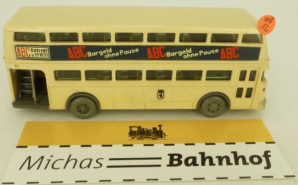 20 Almazeile ABC Bargeld Kleinserie Werbebus D2U Tür auf aus Wiking H0 1:87 WB12 GD4 å