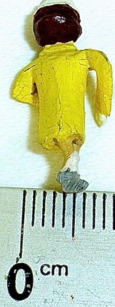 Dame mit gelben Mantel Preiser (?) Holzfiguren 50er Jahre H0 1:87 PH017 å *