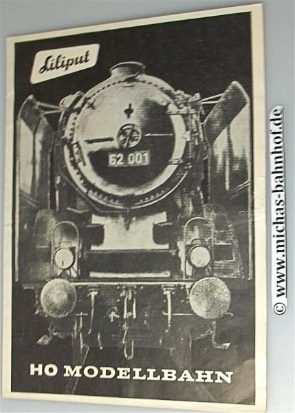 Liliput H0 Modellbahn Broschüre Faltblatt sehr alt å