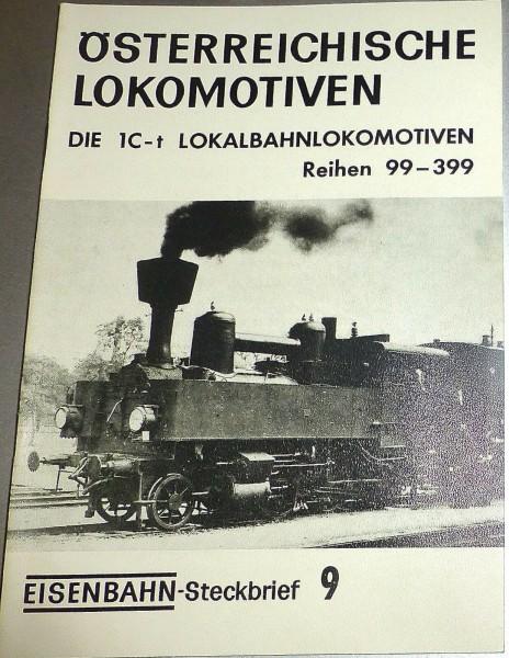 Eisenbahn Steckbrief 9 Österreichische Lokomotiven 1C-t Rh99-399 HJ3 å *