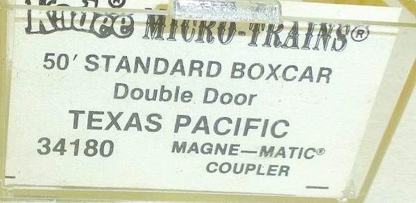 Micro-Trains Line 34180 KADEE Texas Pacific 50' Standard Box Car N 1:160 A å *