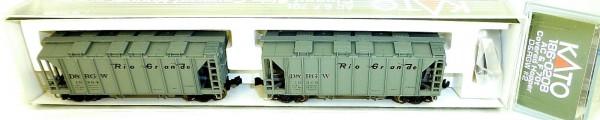 KATO 186-0208 AC&F 70t 2 Car D&RGW Closed Side Covered Hopper OVP N 1:160 HS5 å*