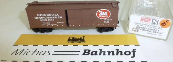 MICRO TRAINS 39190 MINX 1040 40' Wood Sheathed Boxcar N 1:160 OVP #20L å