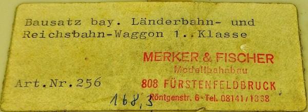 Merker & Fischer 256 Bay Länder- Reichsb. 1. Kl Packabteil BAUSATZ 1:87 å *