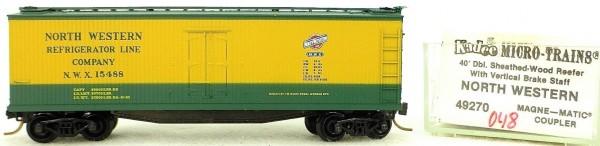 Micro Trains Line 49270 North West 15488 40' Wood Reefer 1:160 OVP 048G å *