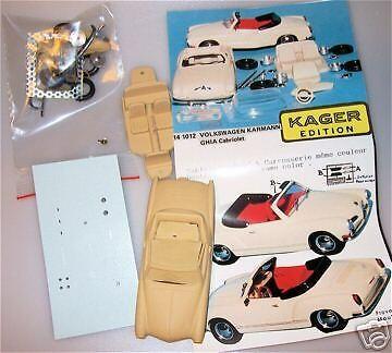 1:43 Carman Ghia Cabriolet 1972 Resin Kit Bausatz Provence Moulage Karmann HS1 µ