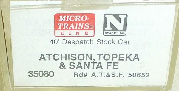 Micro-Trains Line 35080 AT&SF 50652 Grande 40' Despatch Stock Car N 1:160 A å *