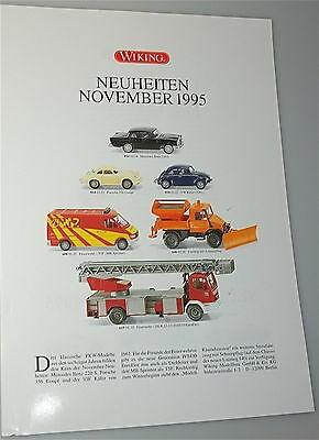 Neuheiten November 1995 WIKING Neuheitenblatt å *